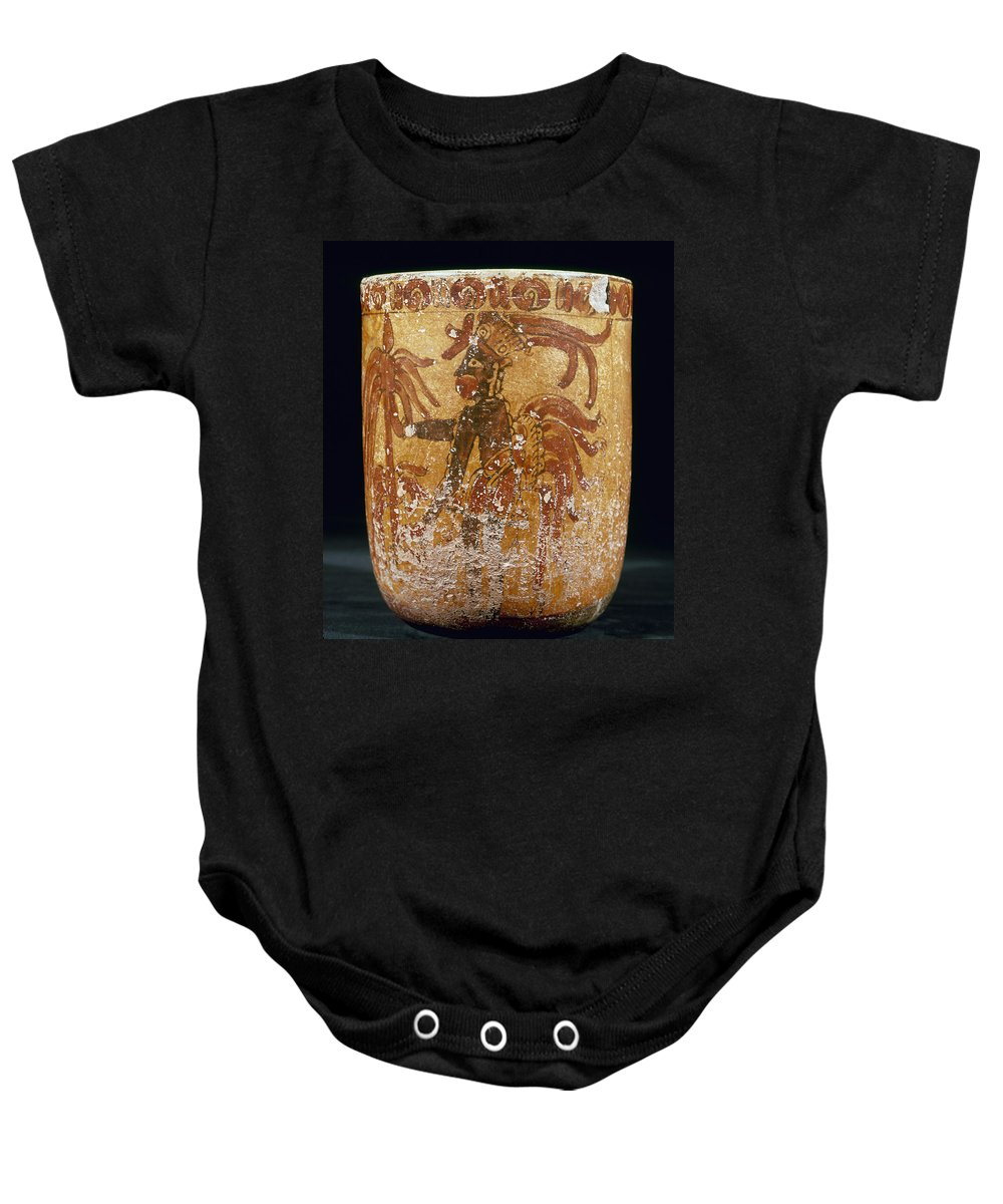 10th Century Baby Onesie featuring the photograph Mayan Priest 700-900 Ad by Granger