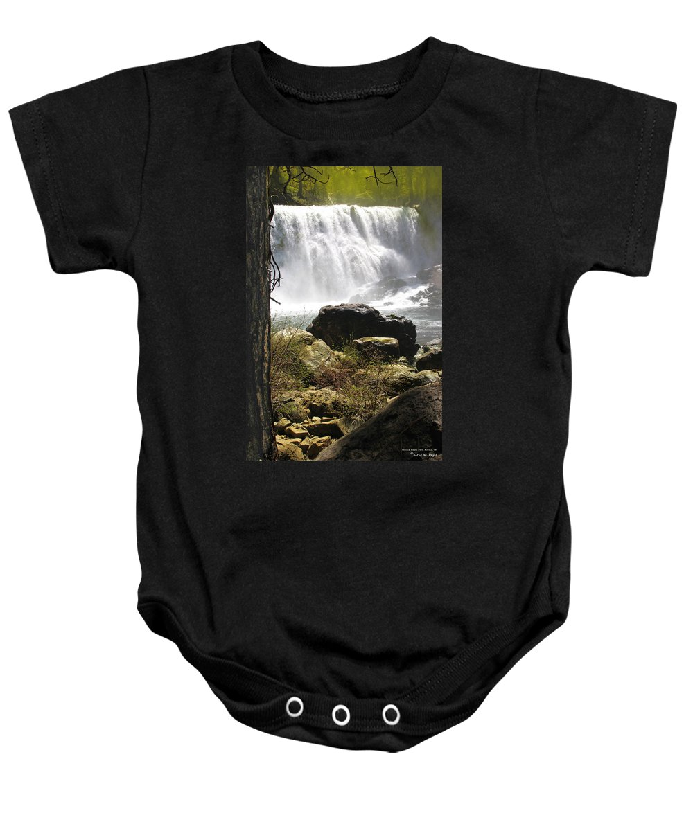 Landscape Baby Onesie featuring the photograph Mccloud Middle Falls by Karen W Meyer