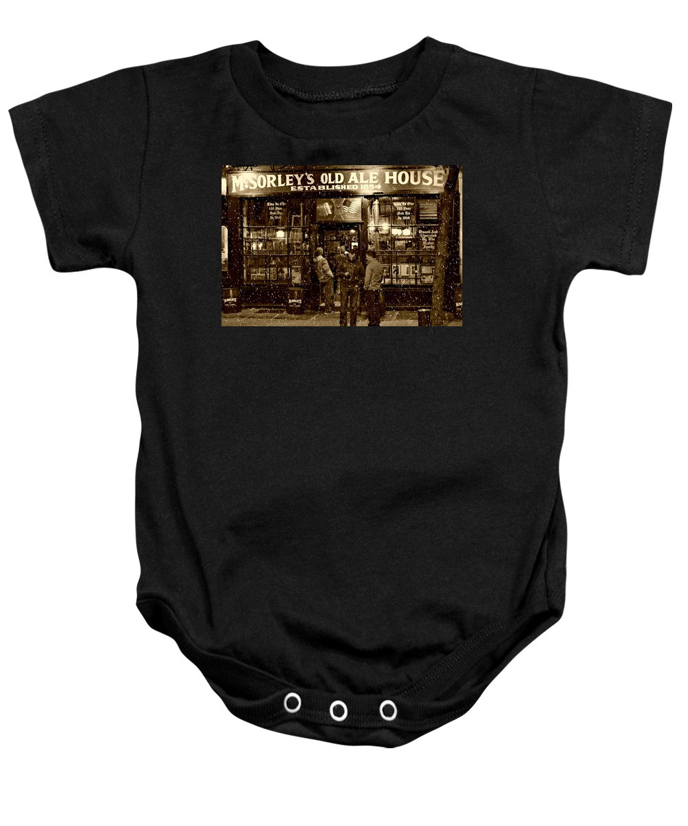 Mcsorley's Old Ale House Baby Onesie featuring the photograph Mcsorley's Old Ale House by Randy Aveille
