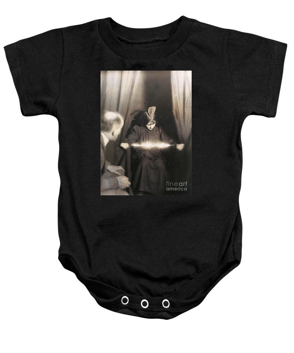 1912 Baby Onesie featuring the photograph Medium During Seance 1912 by Granger