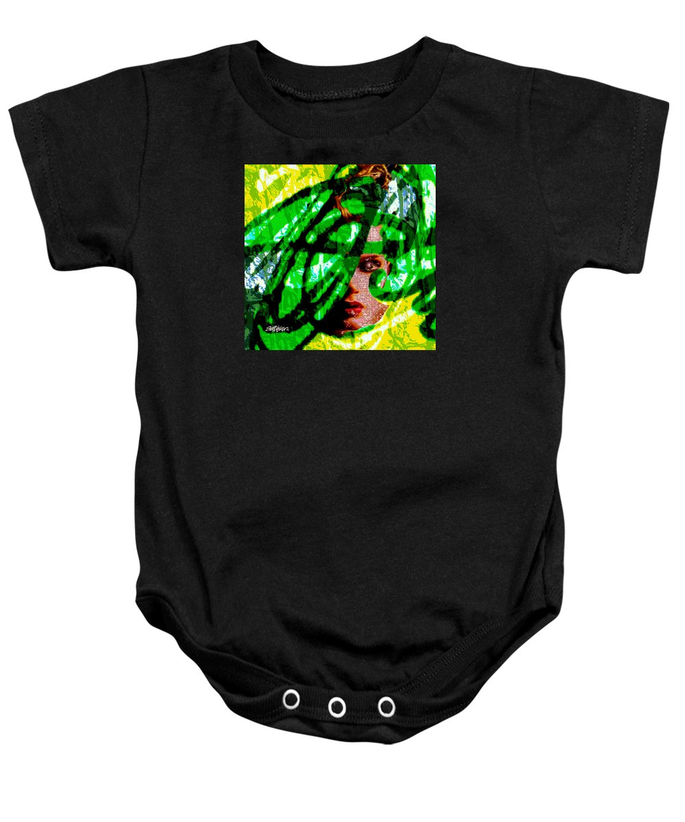 Abstract Baby Onesie featuring the digital art Medusa 1-26 by Seth Weaver