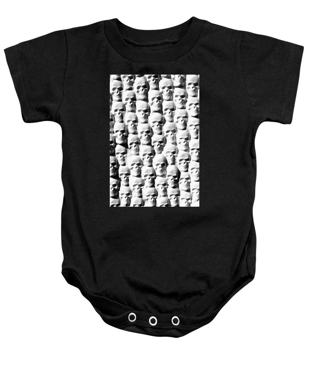 Figurative Baby Onesie featuring the sculpture Melancholic Journey 2 by Mark Cawood