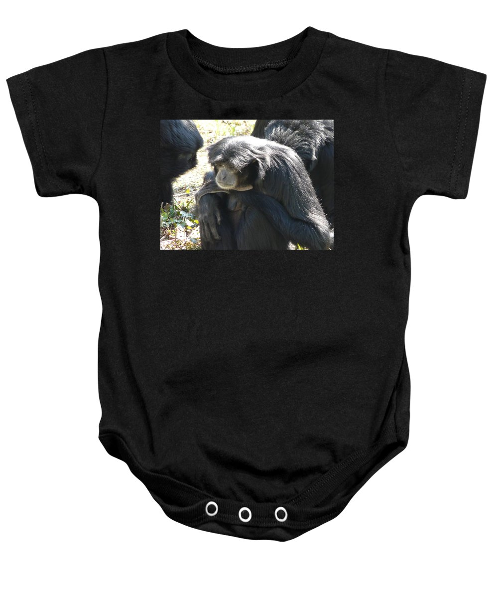 Animal Baby Onesie featuring the photograph Melancholy by Valerie Ornstein