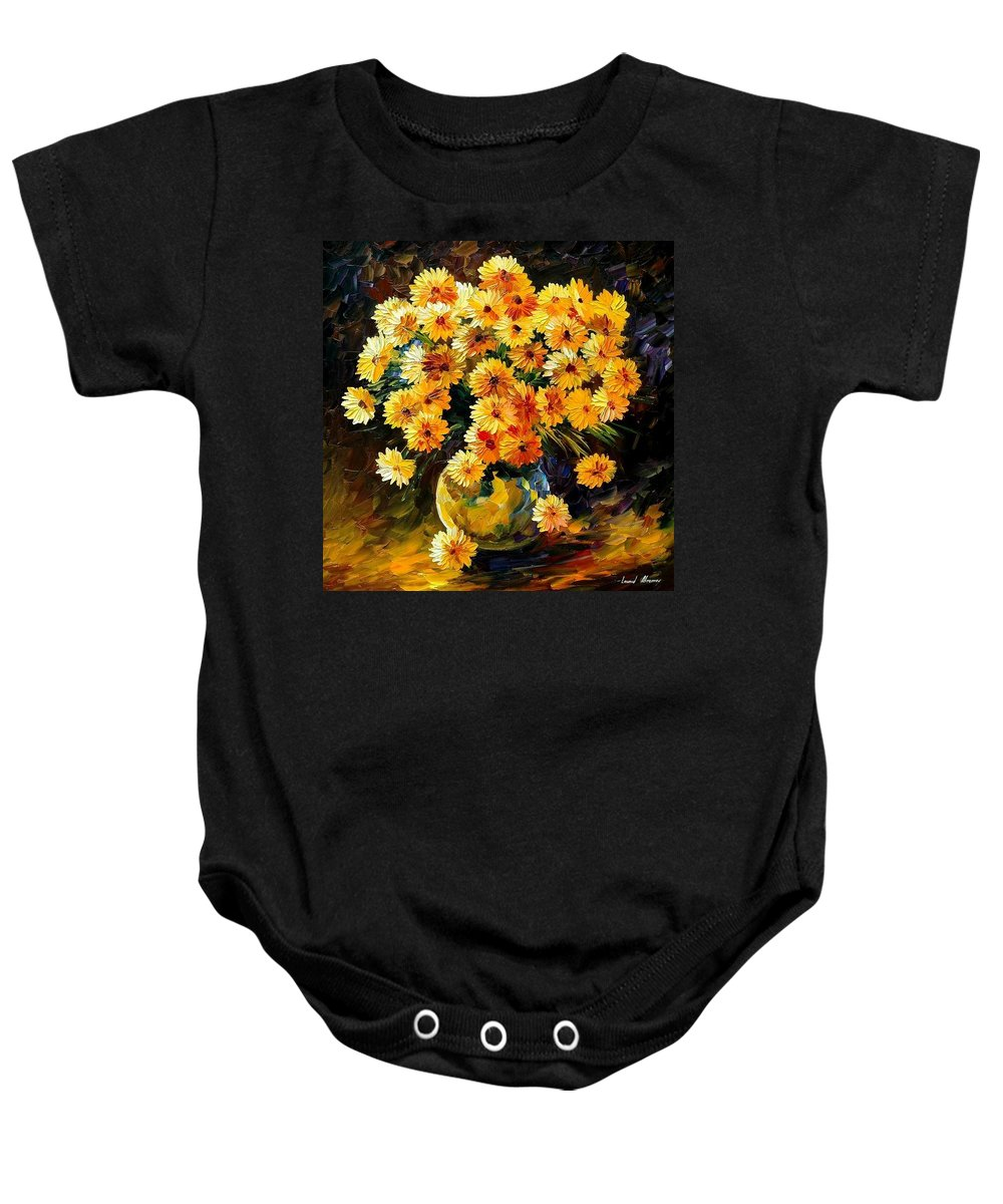 Still Life Baby Onesie featuring the painting Melody Of Beauty by Leonid Afremov