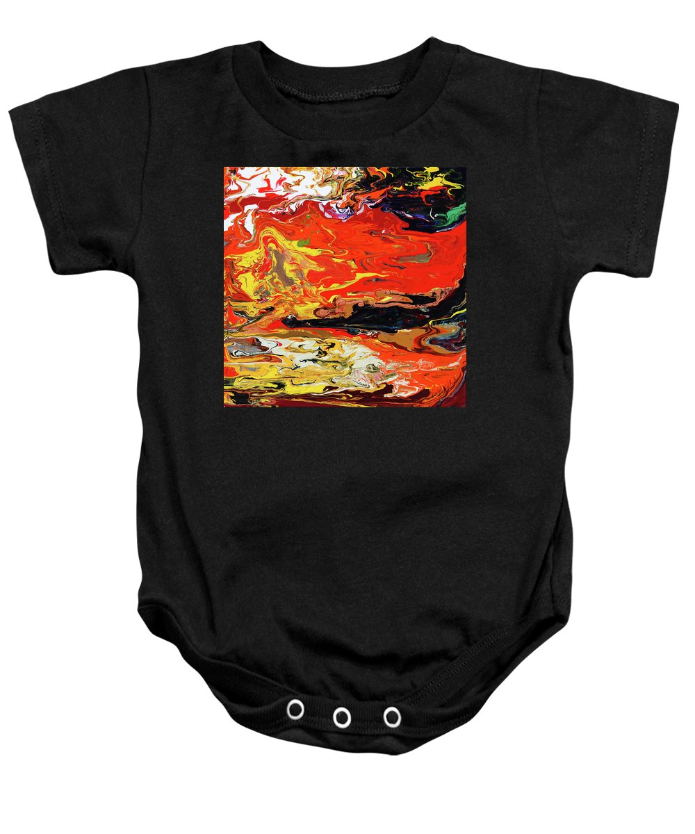 Fusionart Baby Onesie featuring the painting Melt by Ralph White