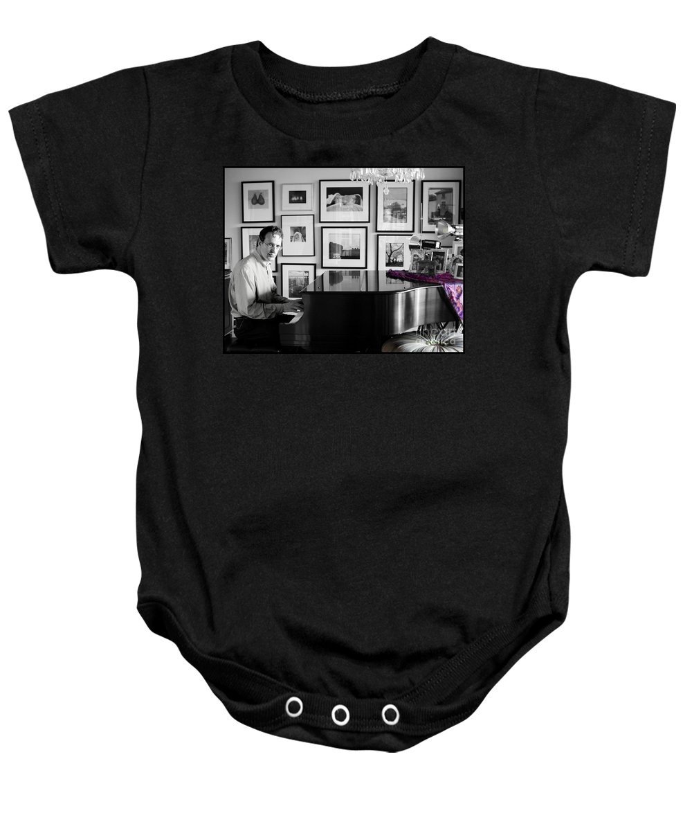 Piano Playing Baby Onesie featuring the photograph Mephistos Waltz by Madeline Ellis
