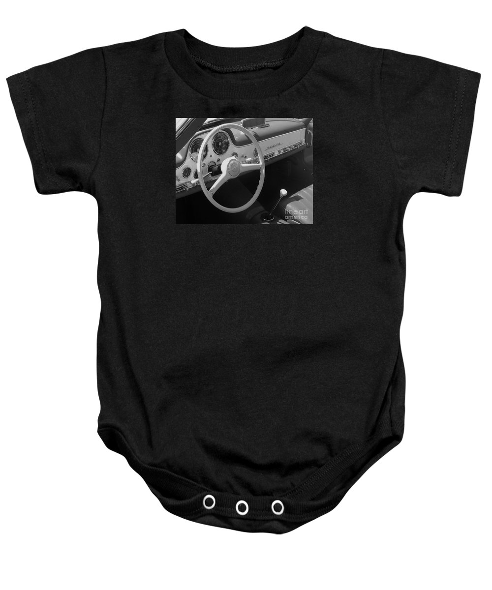 Mercedes Baby Onesie featuring the photograph Mercedes 300sl Dashboard by Neil Zimmerman
