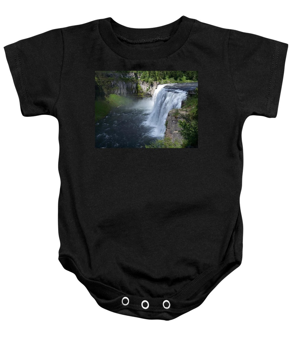 Landscape Baby Onesie featuring the photograph Mesa Falls by Gale Cochran-Smith