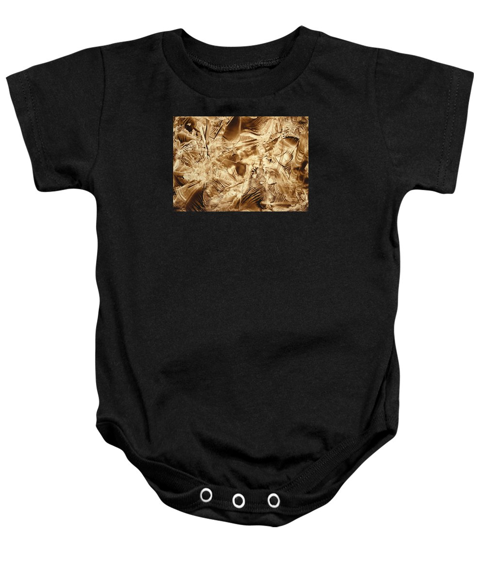 Abstract Baby Onesie featuring the painting Metamorphoses by Nikolay Malafeev