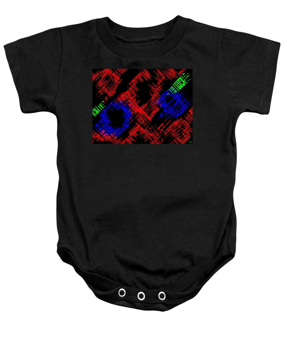 Methodical Baby Onesie featuring the digital art Methodical by Will Borden