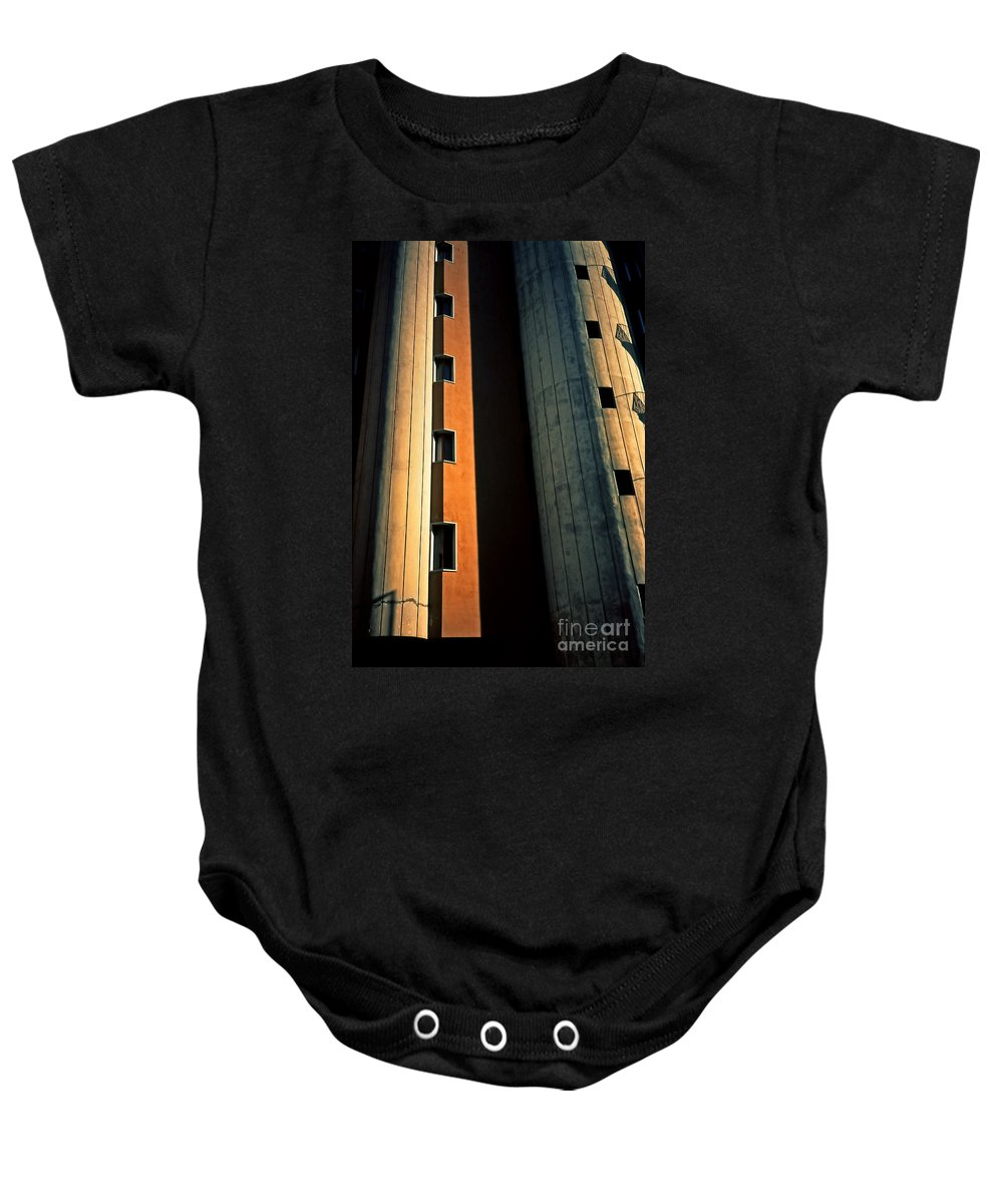 Metropolis Baby Onesie featuring the photograph Metropolis by Silvia Ganora