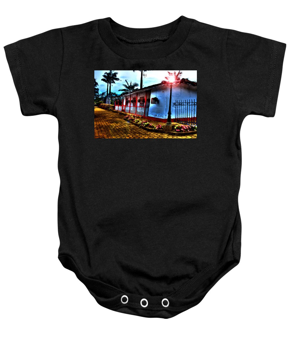 Medellin Baby Onesie featuring the photograph Mi Casa by Francisco Colon