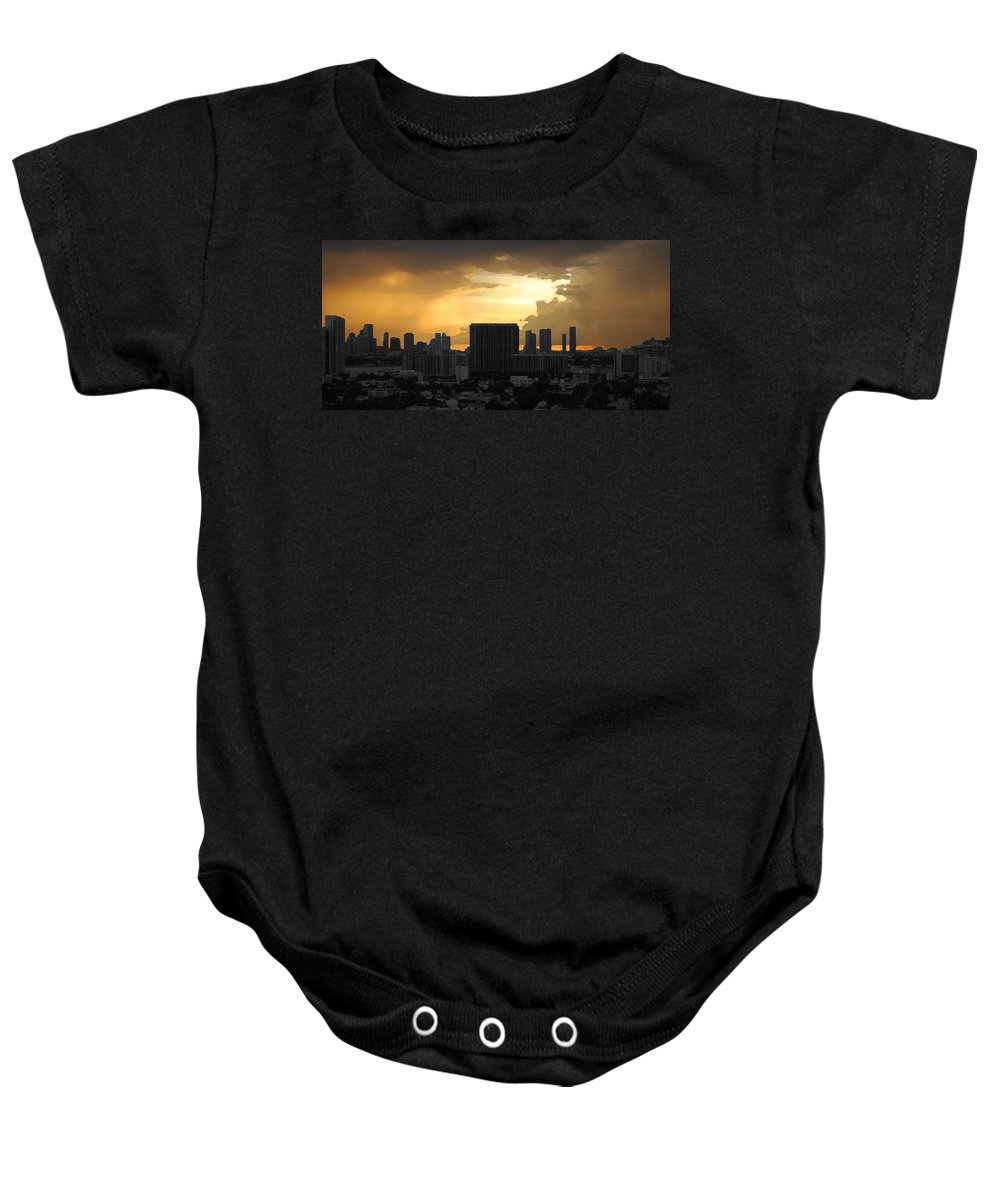 Landscape Baby Onesie featuring the photograph Miami by Joseph Mari