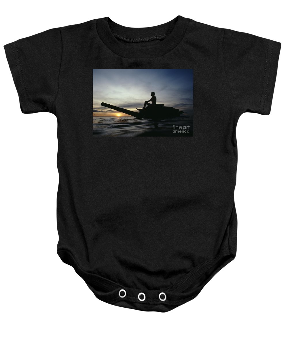 Asian Cultural Art Baby Onesie featuring the photograph Micronesia, Saipan by Mitch Warner - Printscapes