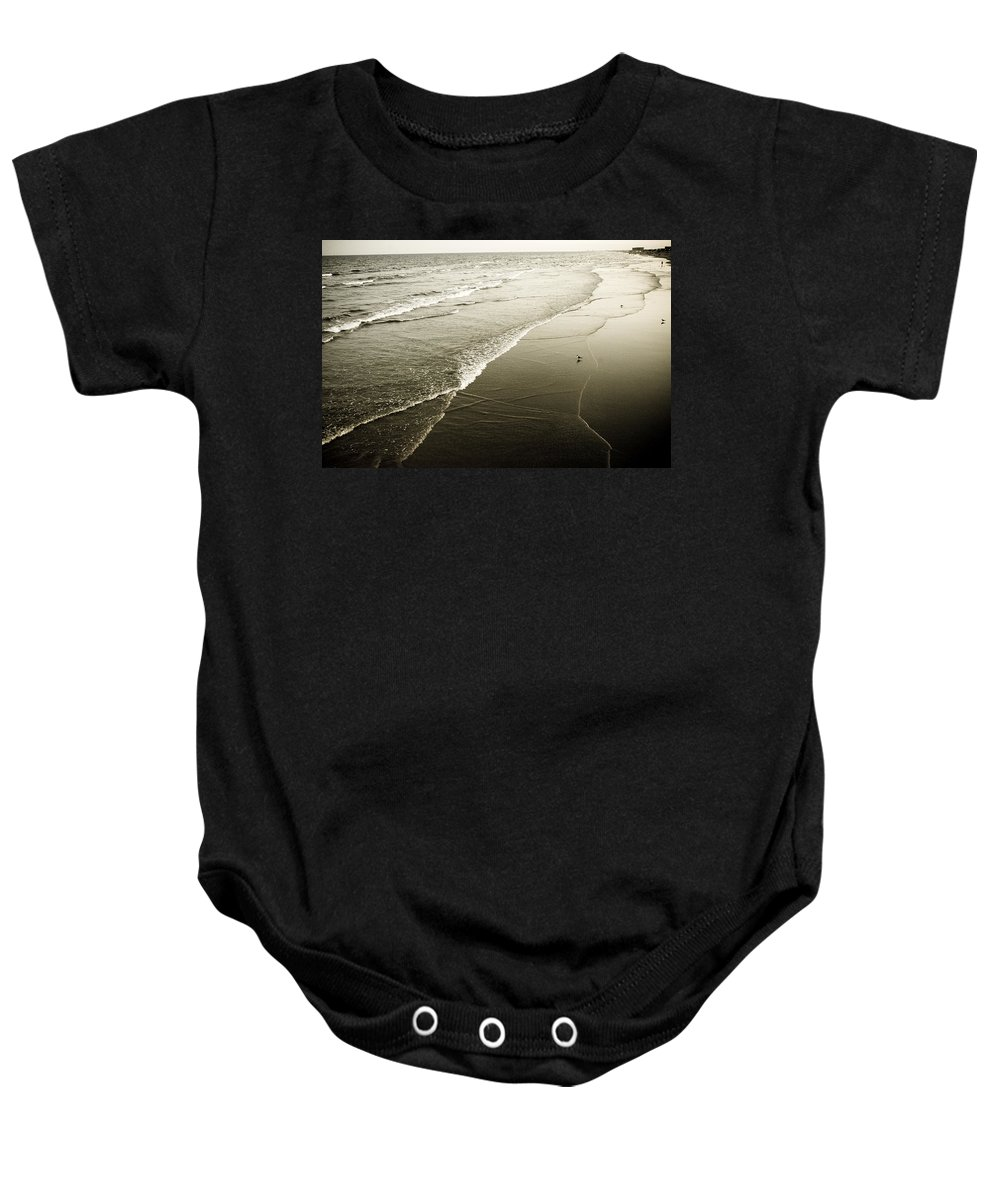 Ocean Baby Onesie featuring the photograph Mid-summer Morning by Marilyn Hunt