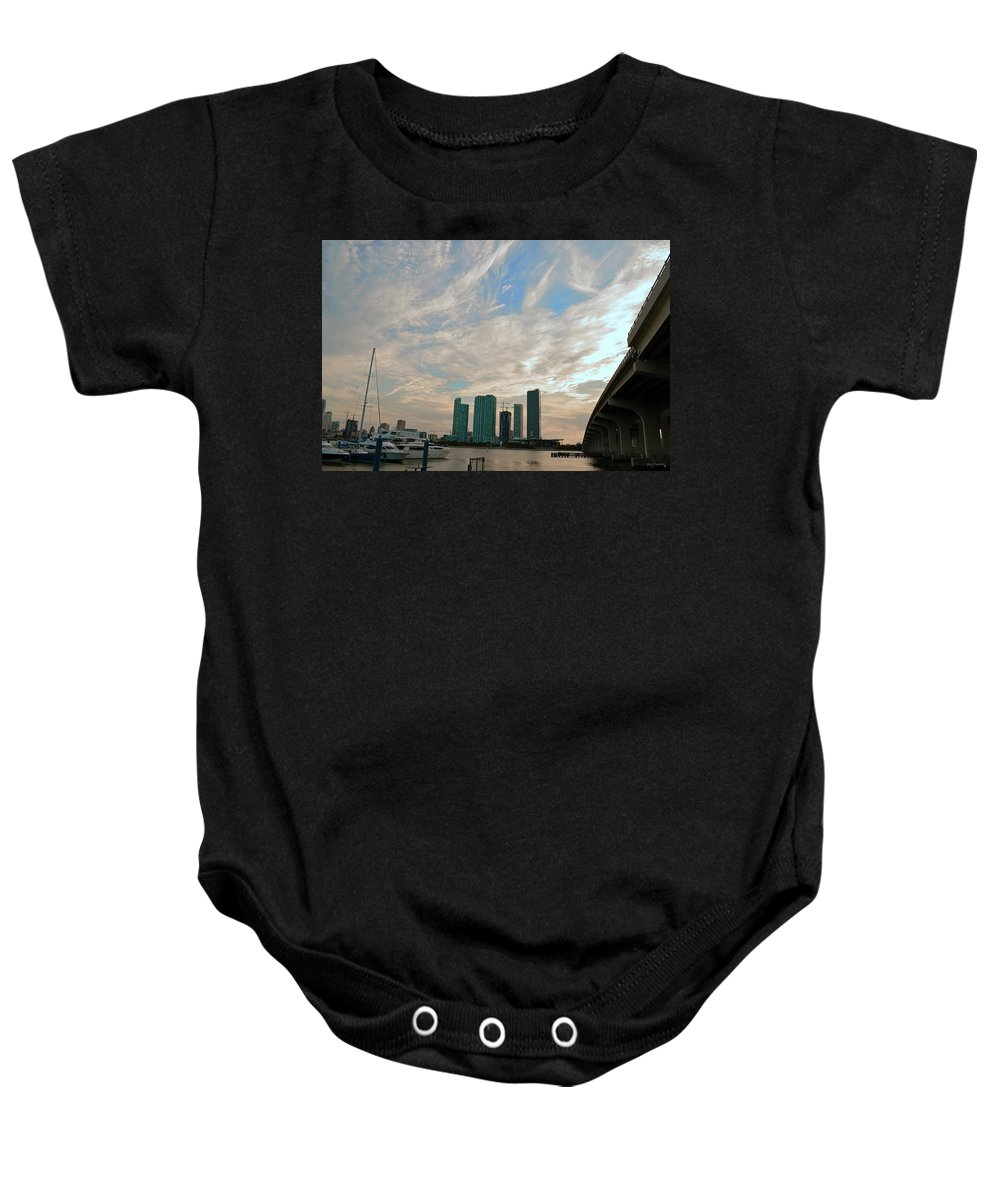 Delray Baby Onesie featuring the photograph Midday In Miami 2 by Ken Figurski