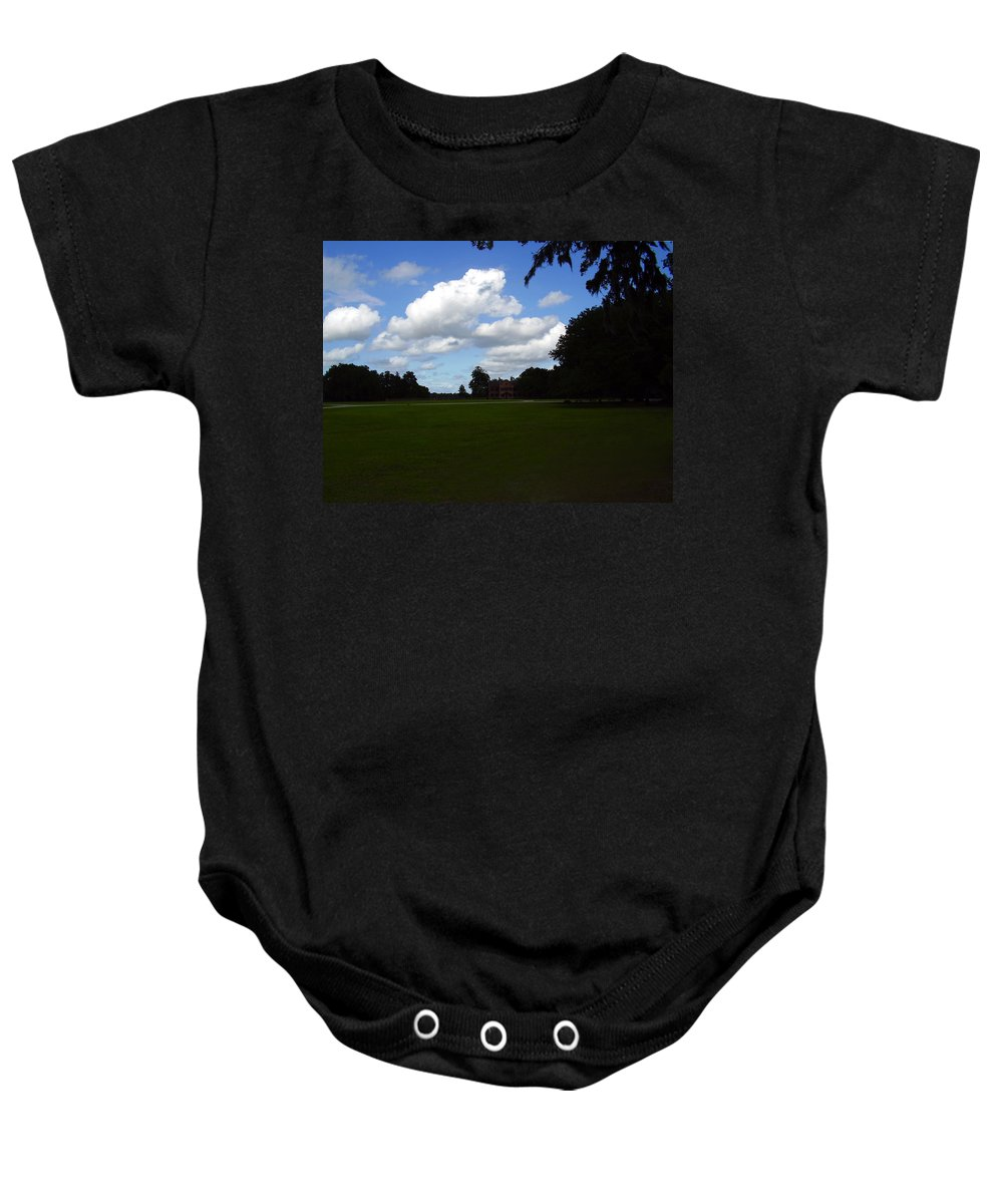 Middleton Place Baby Onesie featuring the photograph Middleton Place by Flavia Westerwelle