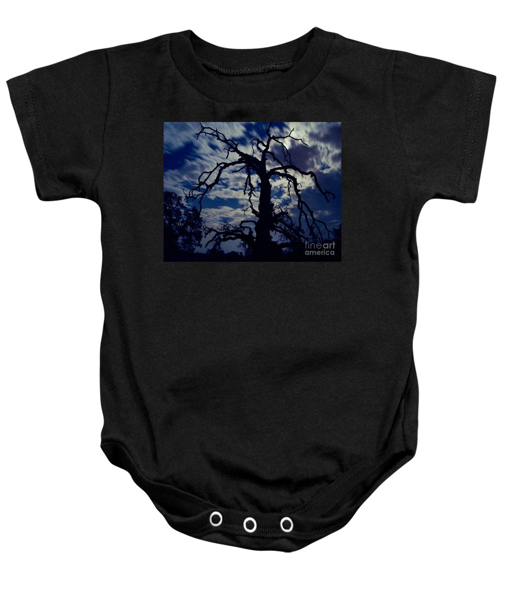 Clouds Baby Onesie featuring the photograph Midnight Blue by Peter Piatt
