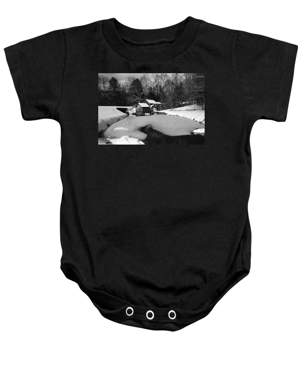 Ice Baby Onesie featuring the photograph Mill On Ice by Eric Liller