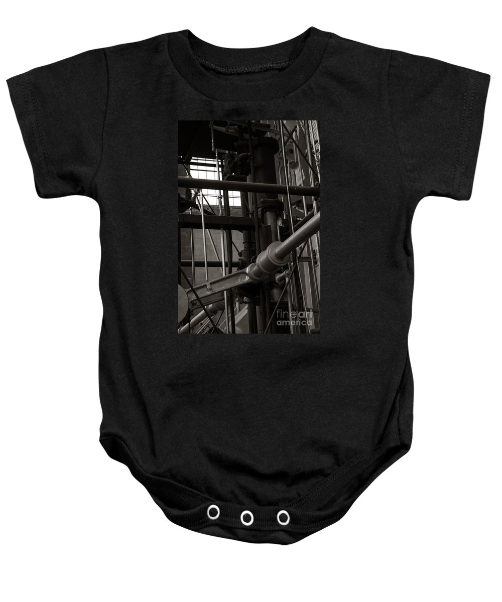 Machine Baby Onesie featuring the photograph Mine Parts by Wesley Farnsworth