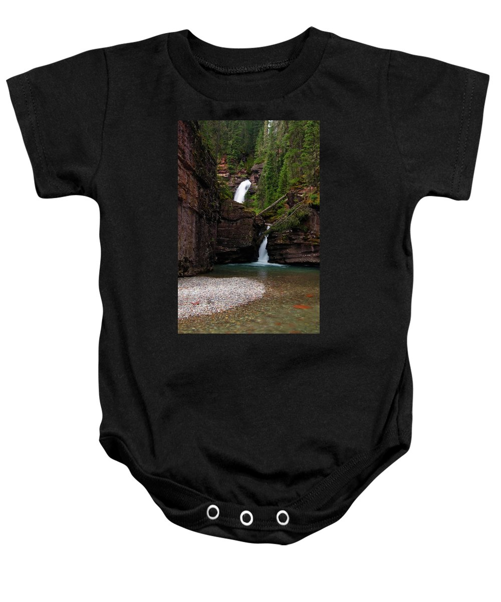 Colorado Baby Onesie featuring the photograph Mineral Creek Falls by Steve Stuller