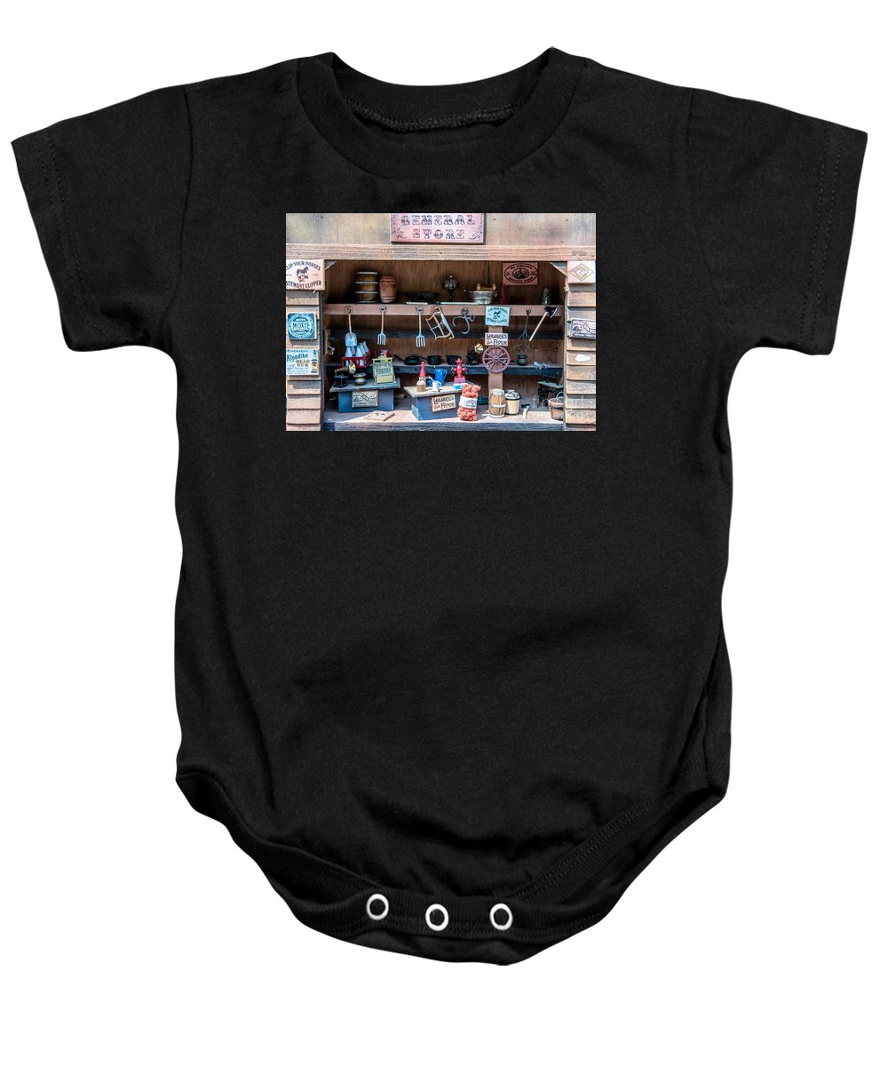 Miniature Baby Onesie featuring the photograph Miniature General Store by Sherman Perry