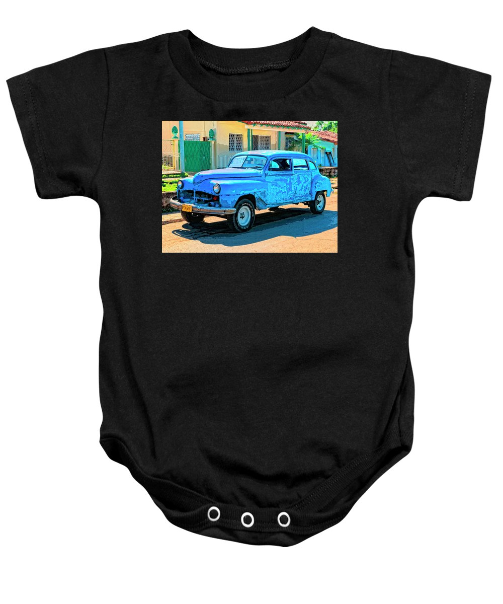 Minimalist Baby Onesie featuring the mixed media Minimalist by Dominic Piperata