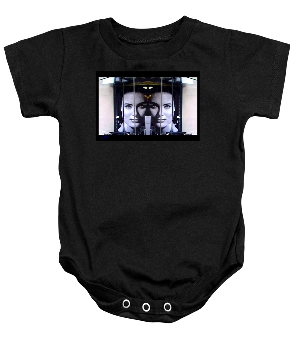 Dream Baby Onesie featuring the photograph Mirror Image by Charles Stuart