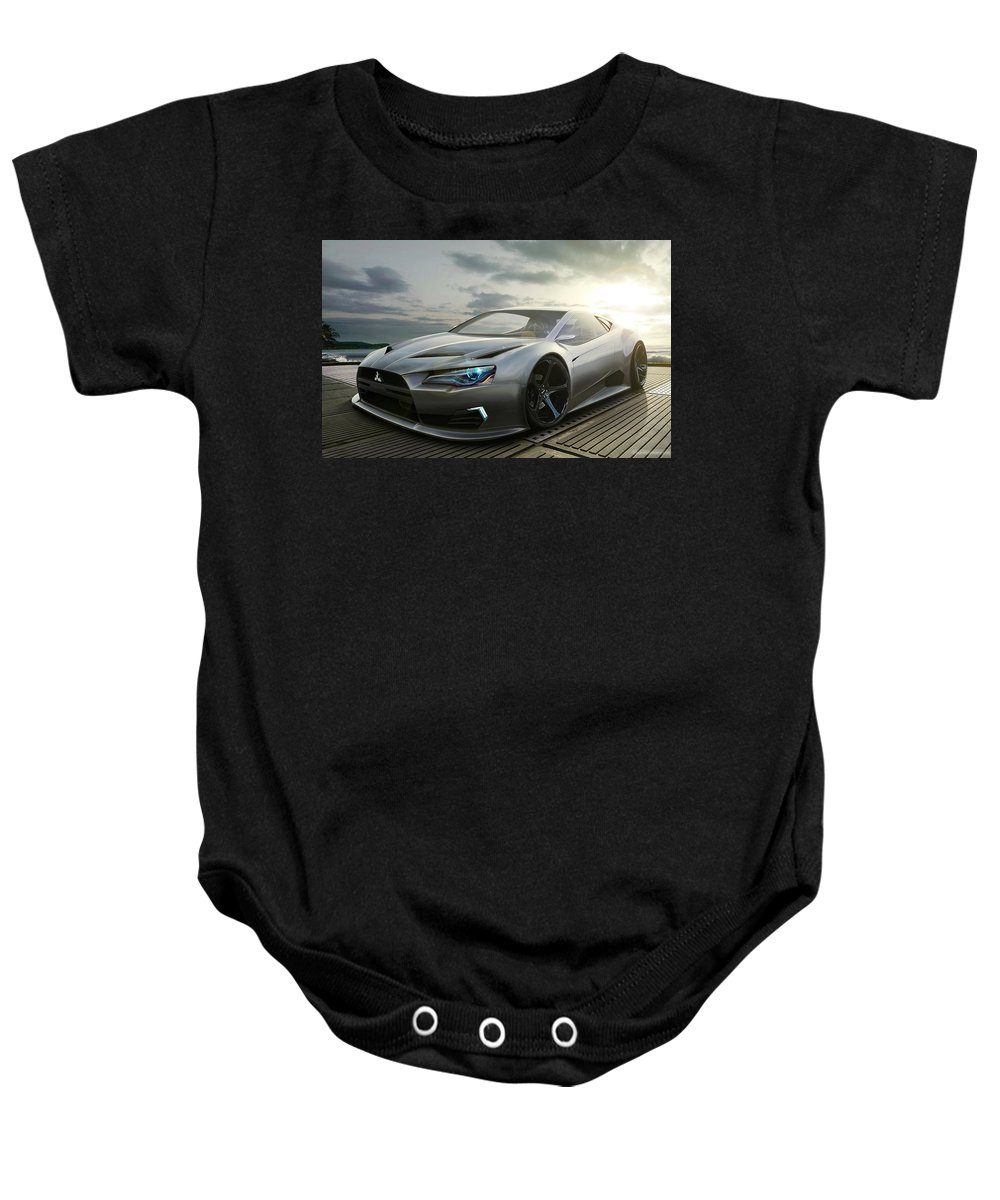 Baby Onesie featuring the digital art Mitsubishi Concept by Alice Kent