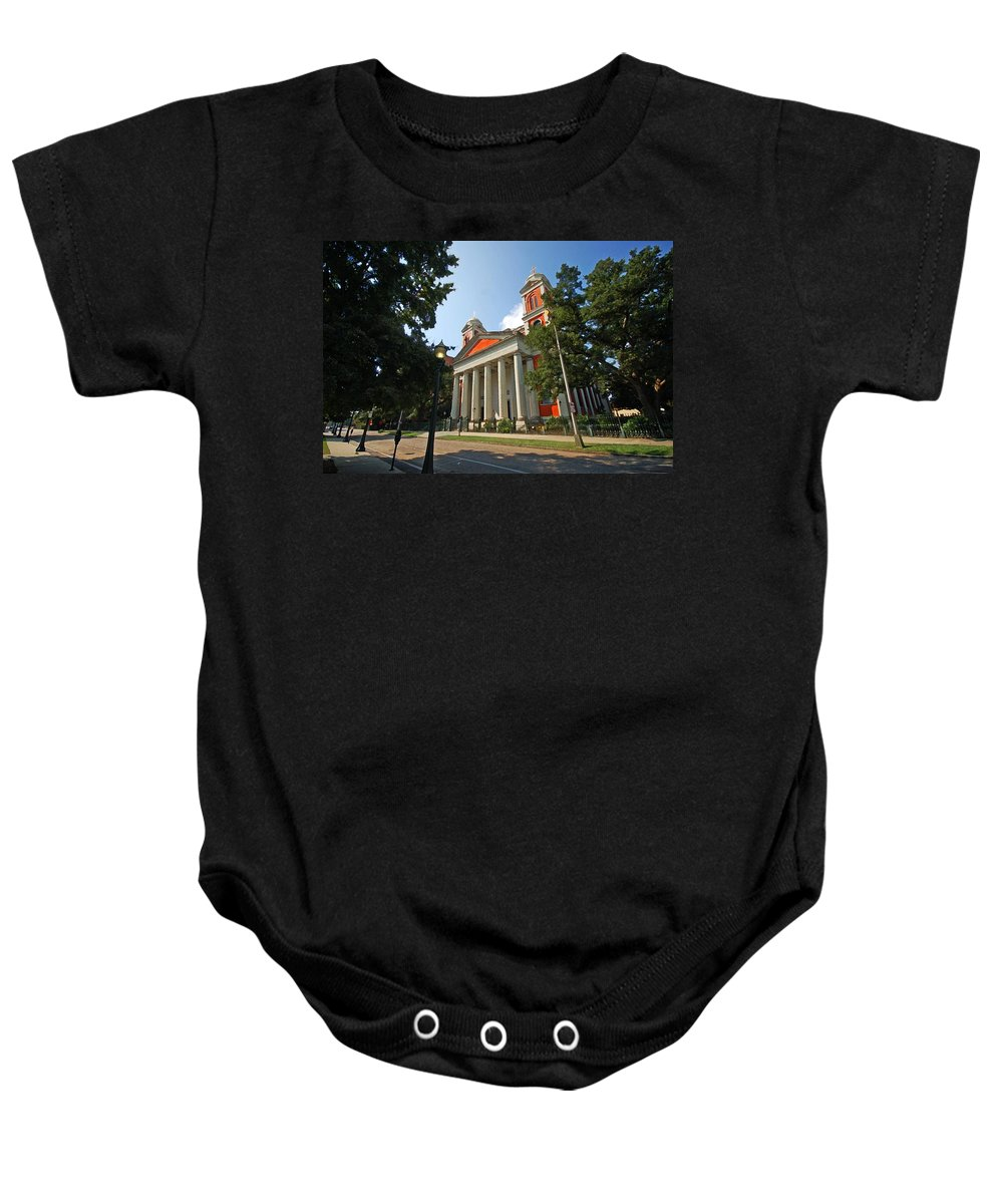 Mobile Baby Onesie featuring the digital art Mobile Cathedral by Michael Thomas