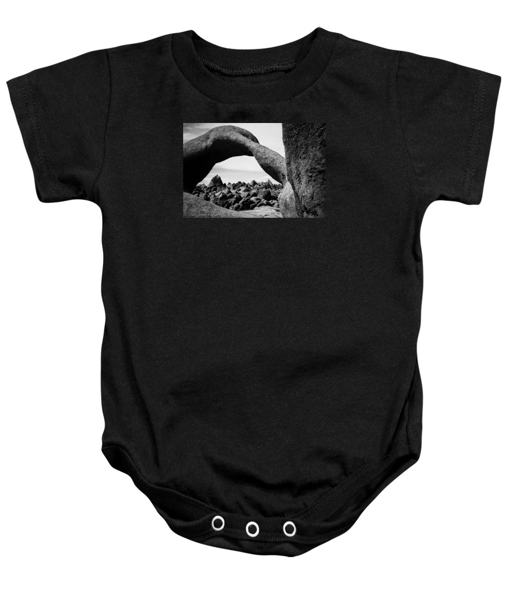 Arch Baby Onesie featuring the photograph Mobius Arch View Alabama Hills by Misty Tienken