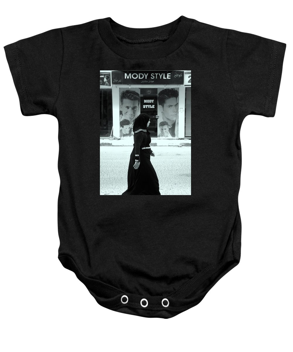 Jezcself Baby Onesie featuring the photograph Mody Mody What Is Mody by Jez C Self