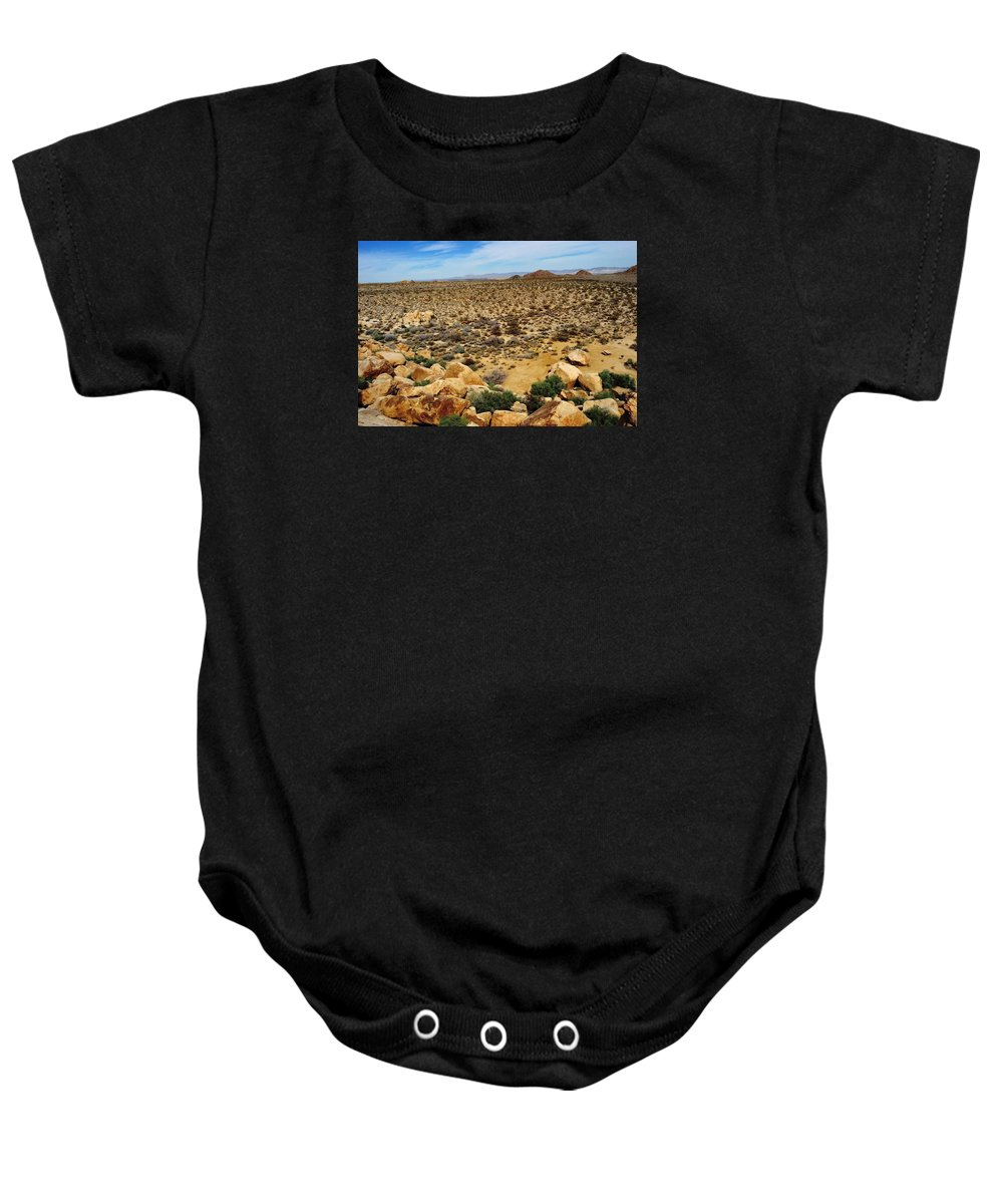 Baby Onesie featuring the photograph Mojave Desert, Ca by Sherri Hasley