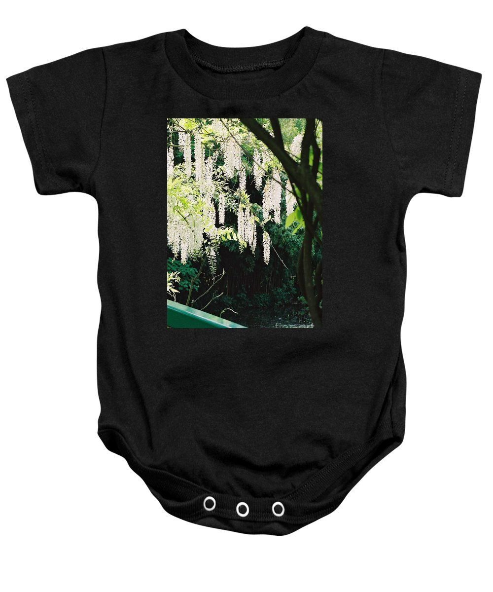 Monet Baby Onesie featuring the photograph Monet's Garden Delights by Nadine Rippelmeyer