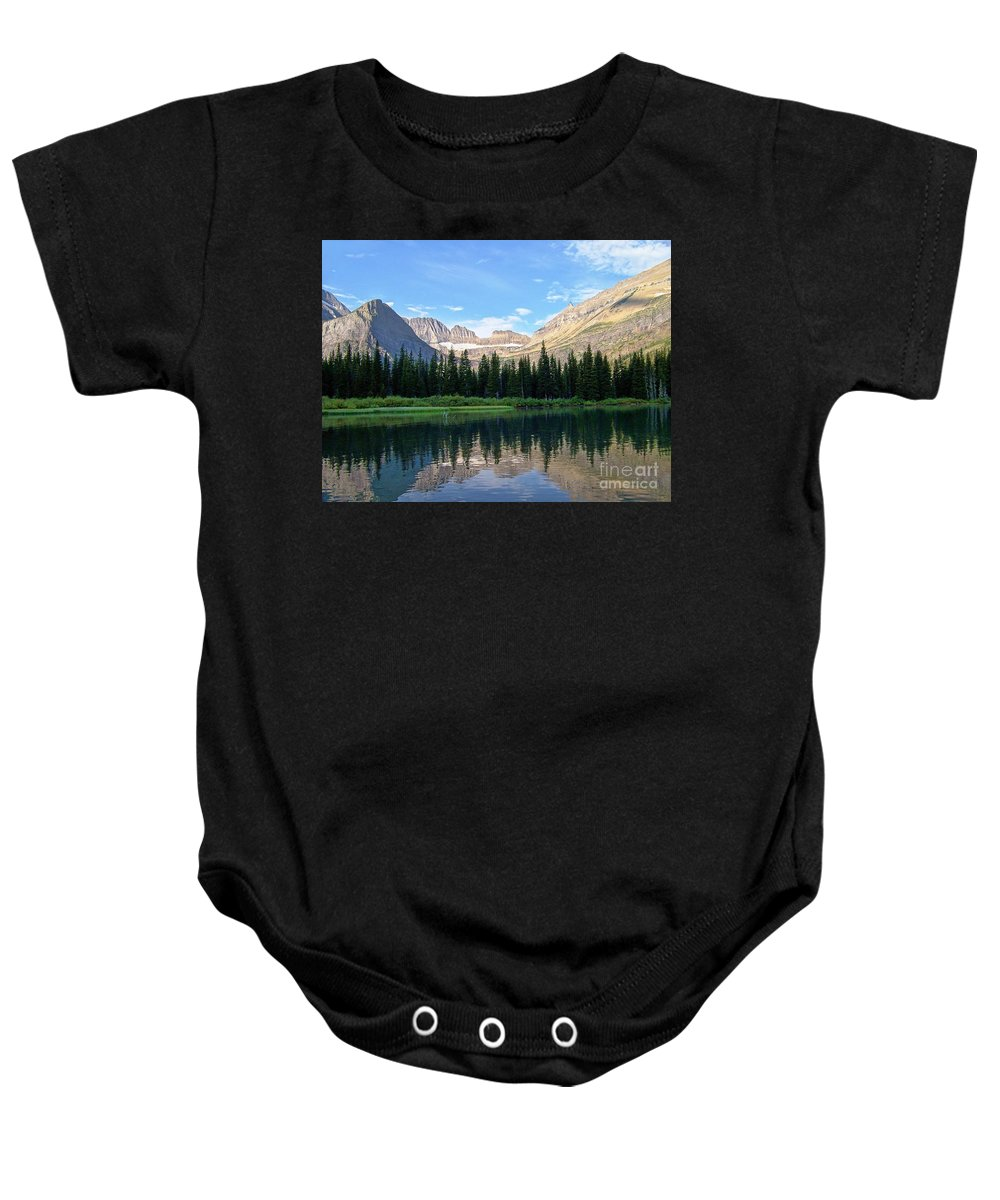 Montana Morning Baby Onesie featuring the photograph Montana Morning by Greg Hammond