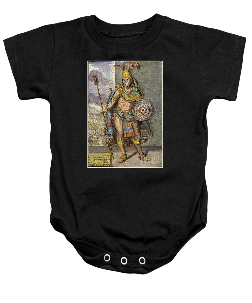 15th Century Baby Onesie featuring the photograph Montezuma II (1480?-1520) by Granger