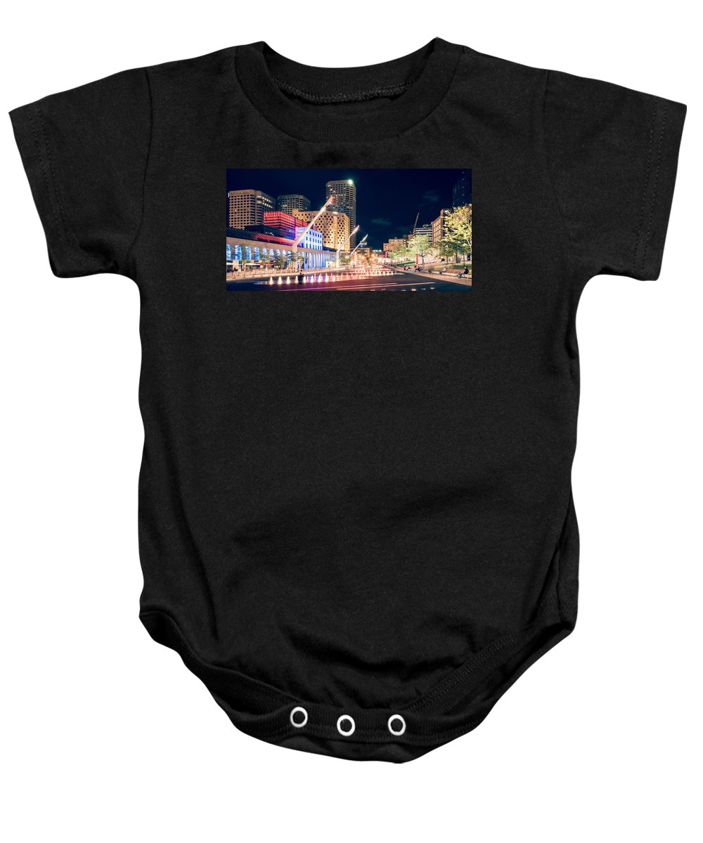Montreal Baby Onesie featuring the photograph Montreal - Place Des Arts by Alexander Voss