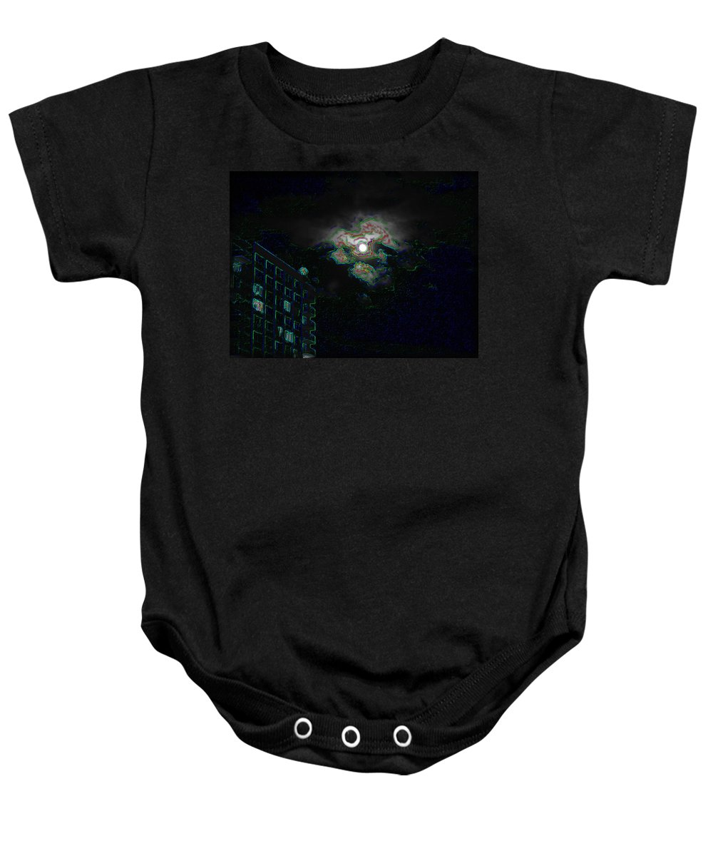 Moon Baby Onesie featuring the photograph Moon Glow by Tim Allen