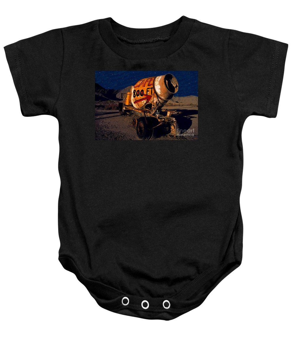 Moonlight Baby Onesie featuring the painting Moonlight Cafe by David Lee Thompson