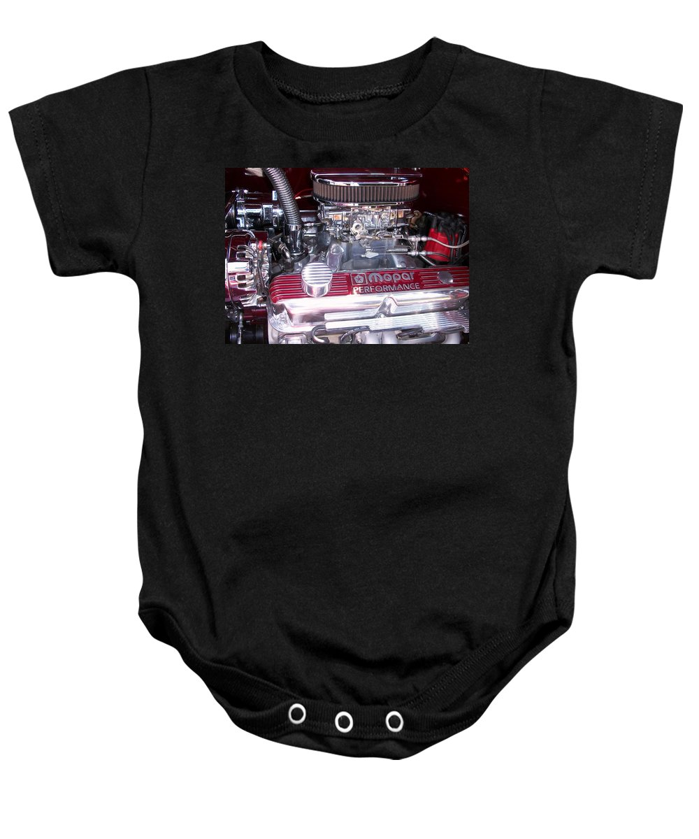 Akers Baby Onesie featuring the photograph Mopar Power by Edmund Akers