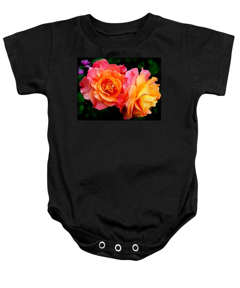 Announcement Baby Onesie featuring the photograph More Roses For Anne Catus 1 No. 1 H B by Gert J Rheeders