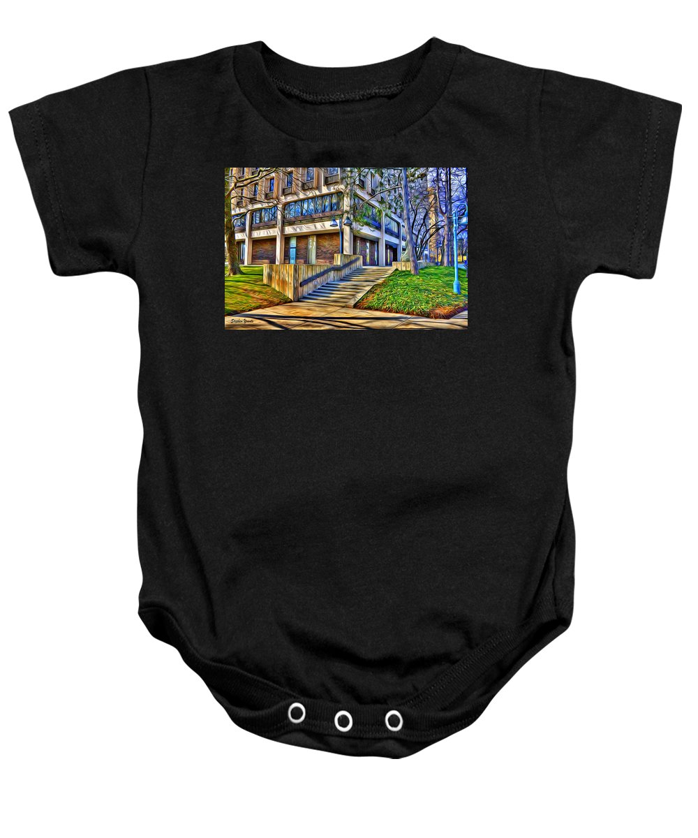 Howard County Baby Onesie featuring the digital art Morning Before Business by Stephen Younts