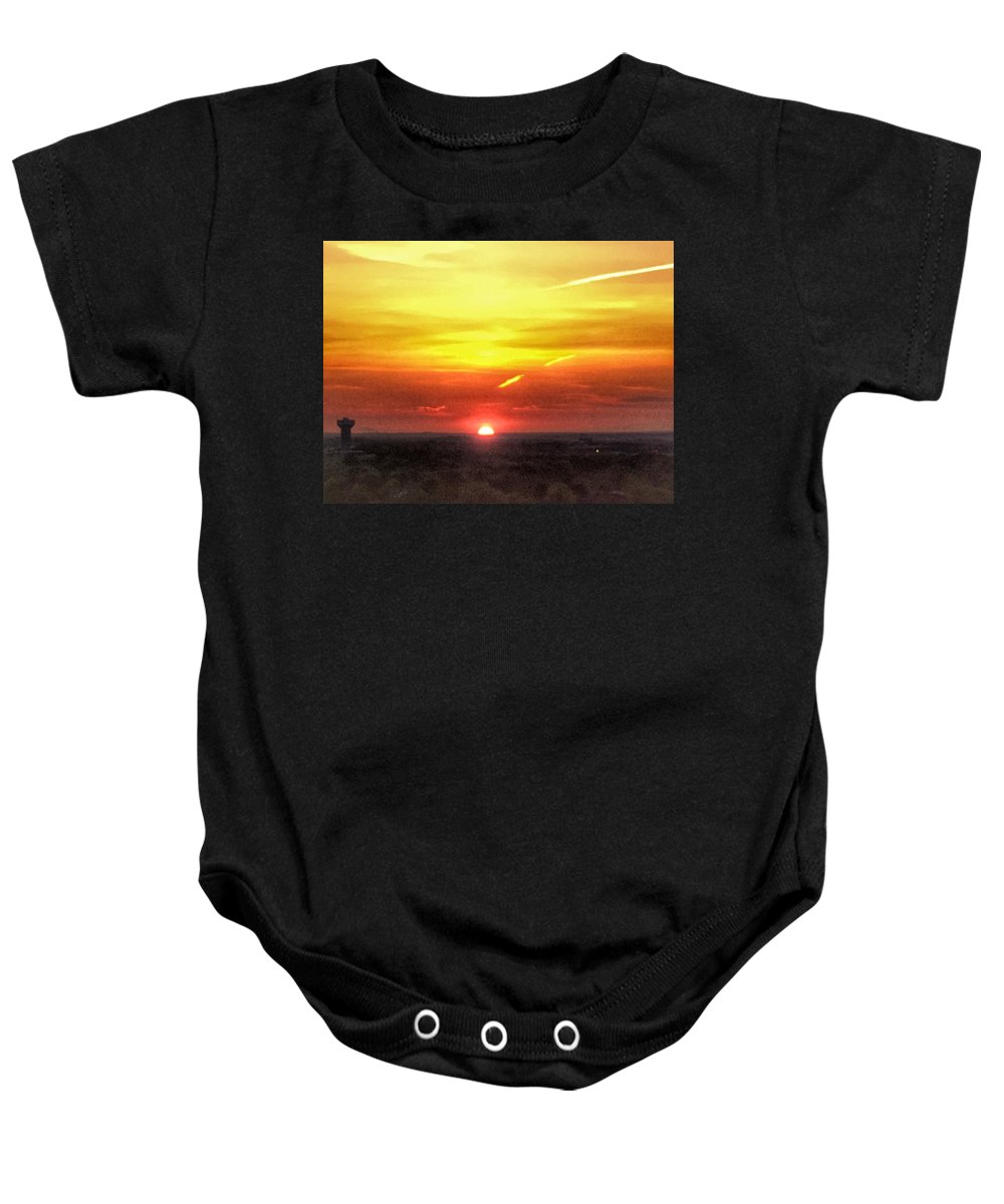 Sunrise Baby Onesie featuring the photograph Morning Glow by Kate McGlynn