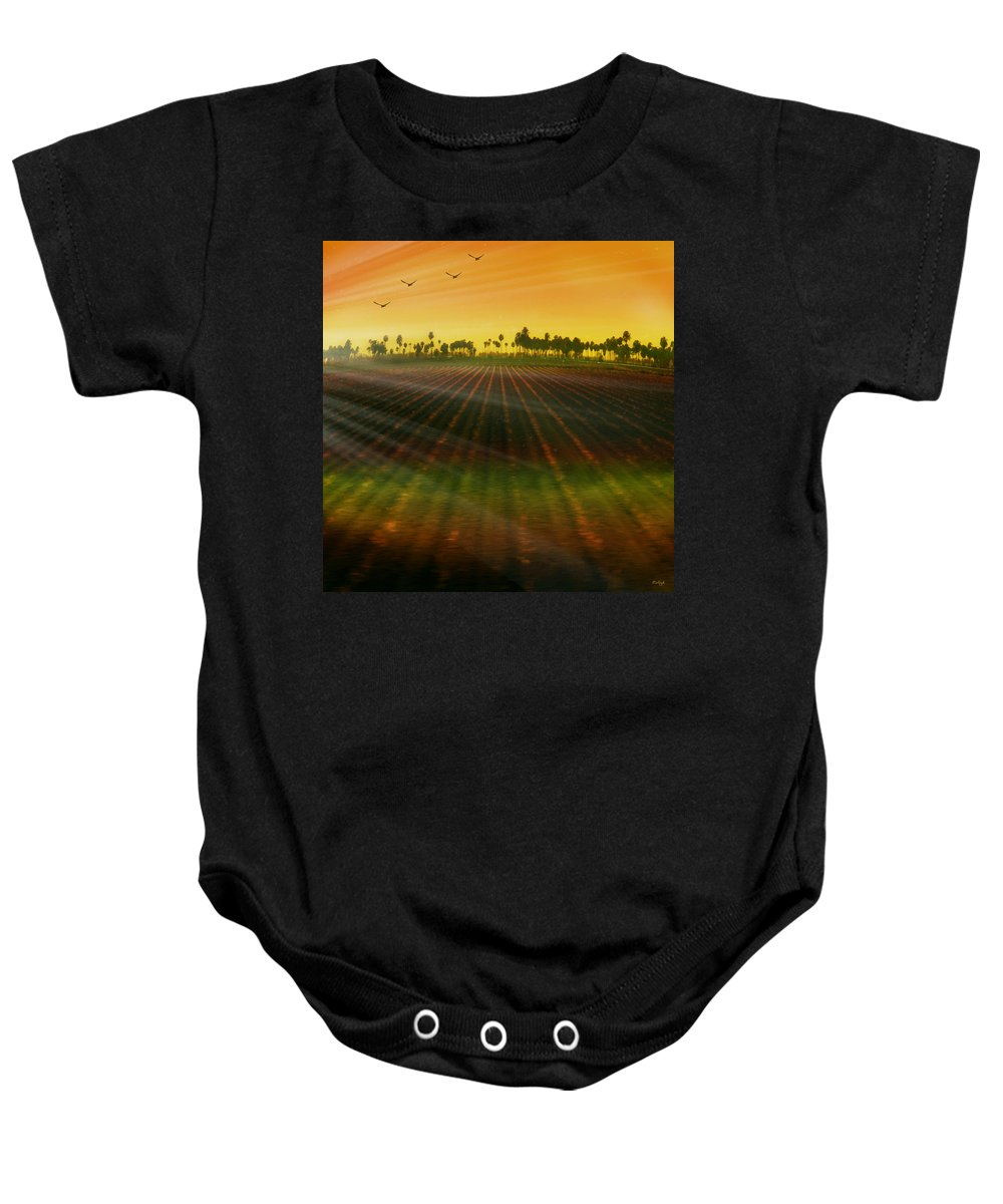 Landscape Baby Onesie featuring the photograph Morning Has Broken by Holly Kempe