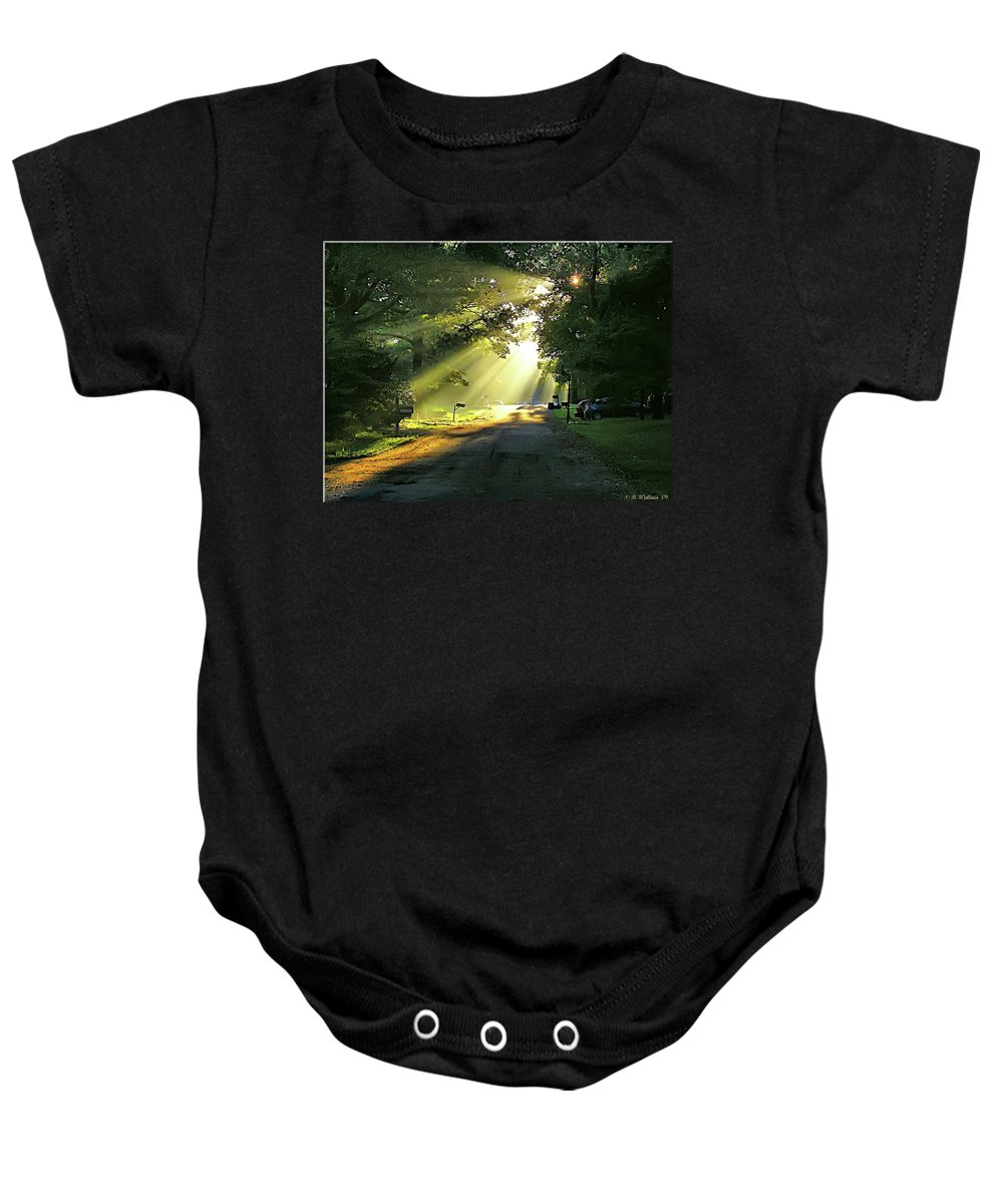 2d Baby Onesie featuring the photograph Morning Light by Brian Wallace