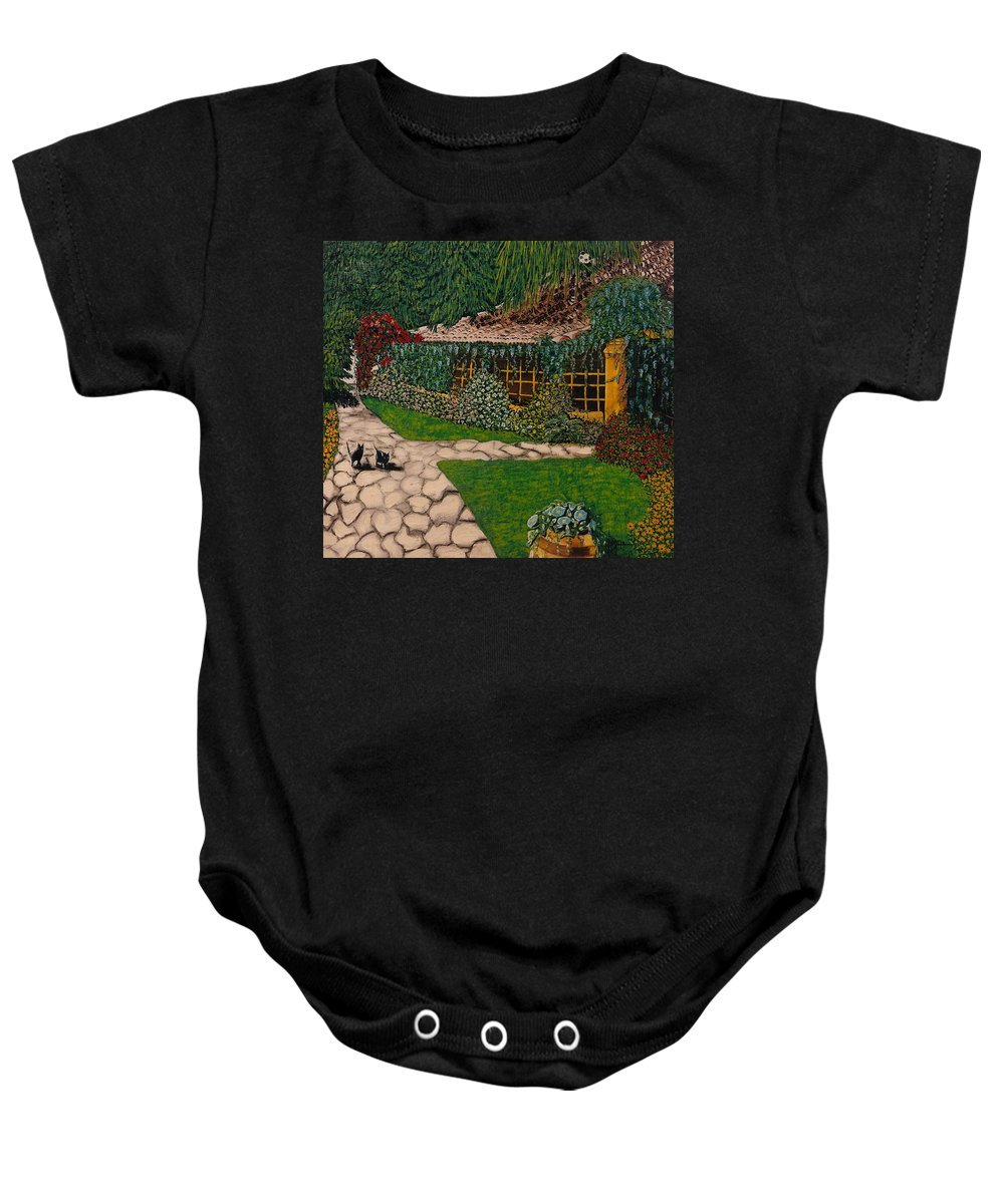 European Baby Onesie featuring the painting Morning Walk by V Boge