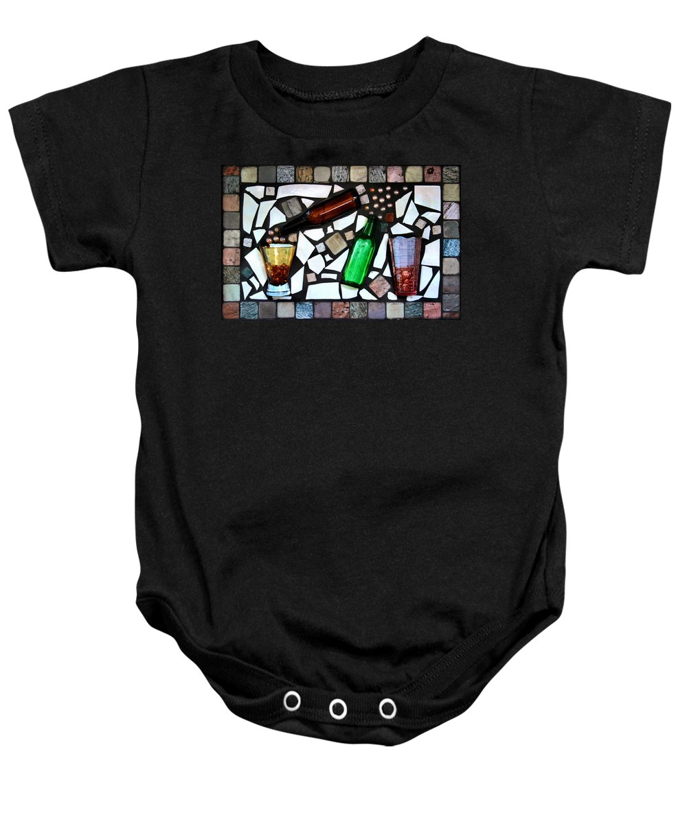 Mosaic Baby Onesie featuring the photograph Mosaic by Kristin Elmquist