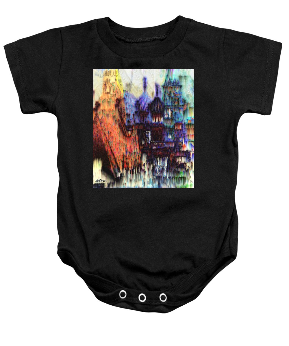Fog Baby Onesie featuring the digital art Moscow In The Rain by Seth Weaver