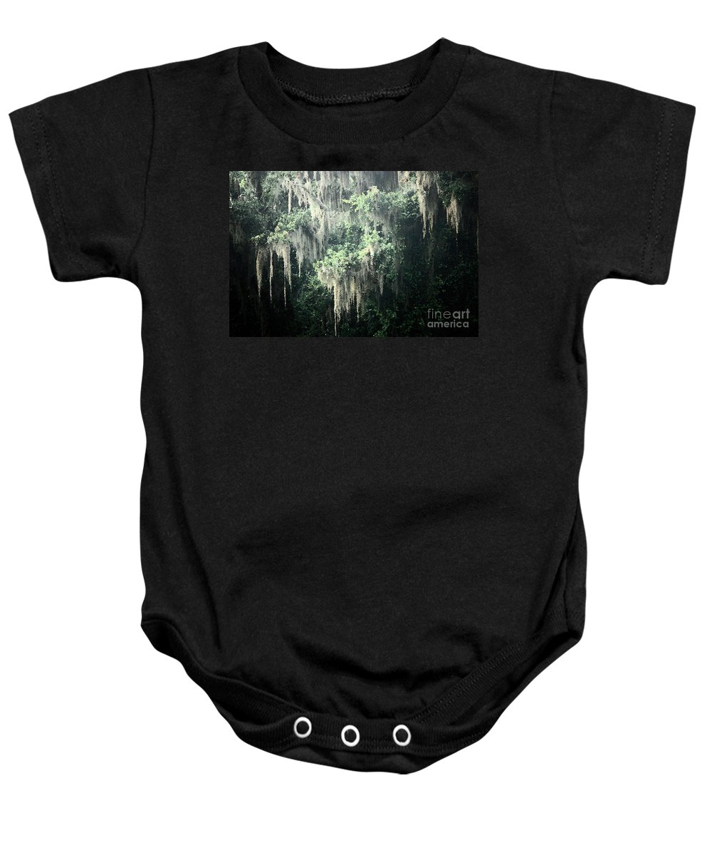 Nature Abstract Baby Onesie featuring the photograph Mossy Dream by Carol Groenen