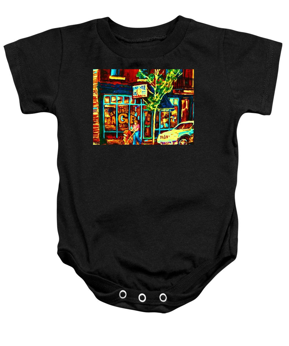 St Baby Onesie featuring the painting Mother And Child by Carole Spandau